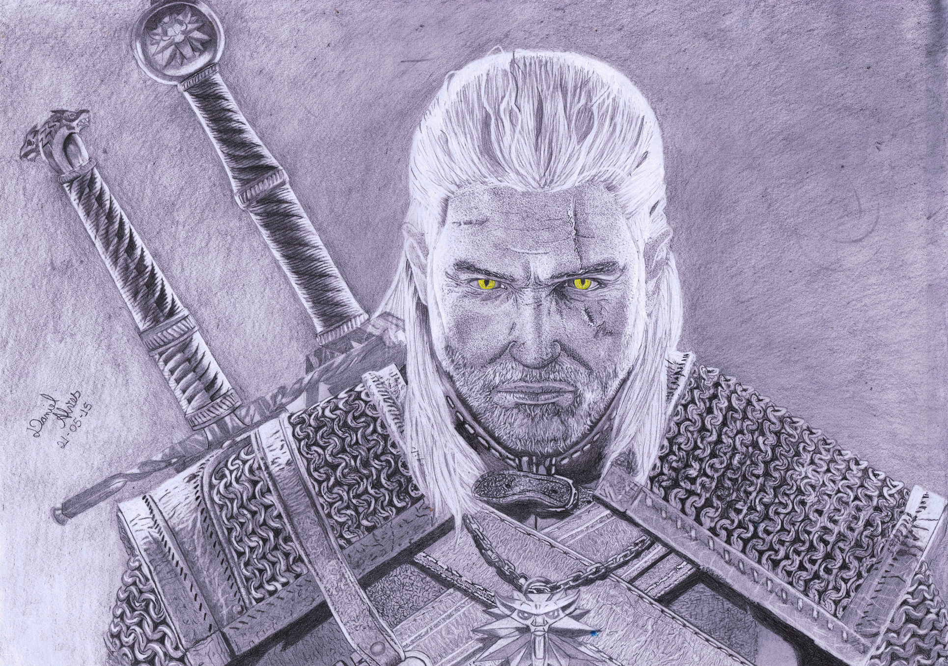 The Witcher 3 Geralt Of Rivia Inspirarte