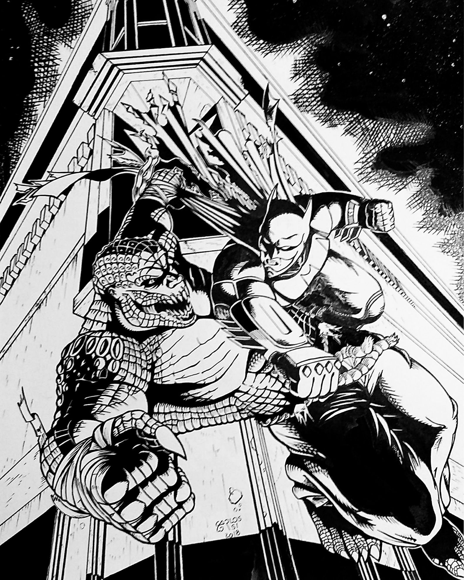Batman Vs Killercroc Inspirarte